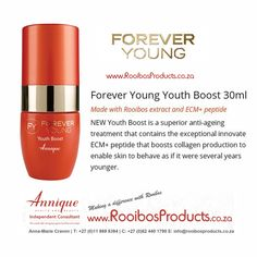 Youth boost #rooibosproducts #annique Forever Young, Collagen, Anti Aging, Youth, Beauty, Products, Beauty Products, Young Adults, Teenagers