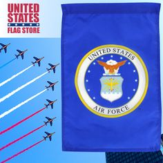 Garden Flag Holder, Garden Flags, Military Flags, Logo Garden, Flag Store, Us Air Force, Armed Forces, Seal, Special Forces