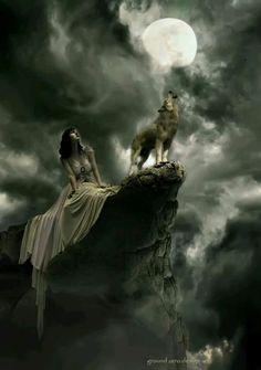 Tattoo Wolf Moon Spirit Animal Art Ideas For 2019 Wolf Love, Vampires, Wolf Hybrid, Wolves And Women, Wolf Spirit Animal, Wolf Pictures, Beautiful Wolves, Wolf Girl, Wolf Tattoos