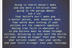 How true is this! So many people hide behind their religion and treat people bad if they don't have the same beliefs, that is just wrong!