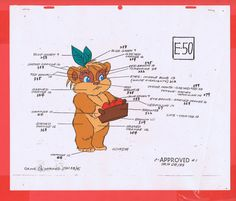 Star Wars Ewoks Cartoon Animation Production Winda Model CEL BV648 | eBay