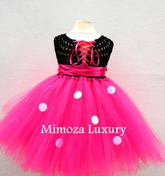 Vestido de minnie mouse mickey mouse cumpleaños por MimozaLuxury Baby Girl Dresses, Baby Dress, Pink Dress, 1st Birthday Dresses, Crochet Tutu, Flower Girl Gown, Add Sleeves, Crochet Baby Clothes, Princess Outfits