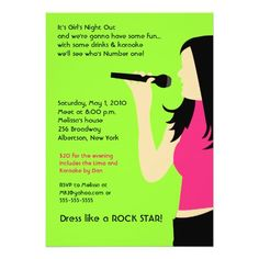 347 best karaoke birthday party invitations images on pinterest karaoke singing party girls night out birthday invite stopboris Gallery