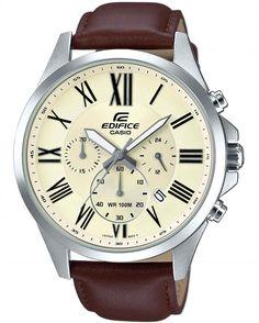 Mοντέρνο ανδρικό ρολόι της Casio Edifice από ανοξείδωτο ατσάλι και καφέ…