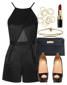 """""""Style #10455"""" by vany-alvarado ❤ liked on Polyvore featuring Topshop, MICHAEL Michael Kors, Hermès, Christian Louboutin and Bobbi Brown Cosmetics"""