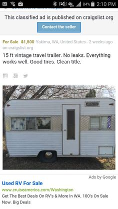 Used Toy Haulers For Sale Craigslist : haulers, craigslist, Silver, Queen, Vintage, Travel, Trailers, Ideas, Trailers,, Travel,, Trailer
