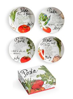 Little Obsessed - Beautiful Pasta Italiana #Dipping Dish - Boxed Set of 4, $19.99 (http://www.littleobsessed.com/pasta-italiana-dipping-dish-boxed-set-of-4/)