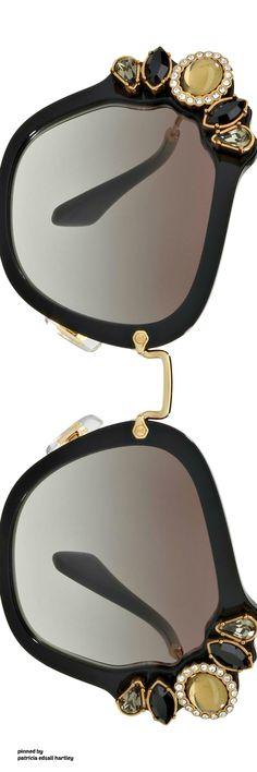 Miu Miu Gradient Embellished Square Sunglasses