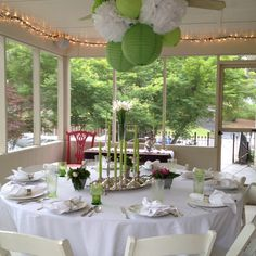 Sister S Back Porch All Decked Out For Prom Dinner