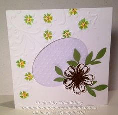 Stamp Sets: Flower Shop Card Stock: Whisper White, Pear Pizzazz, Vellum Punches: Pansy Framelits: Ovals Collection Embossing Folders: Elegant Bouquet, Perfect Polka Dots Embellishments: Pears, Gold Embossing Folders