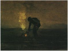 Vincent van Gogh, Peasant Burning Weeds,1883, Oil on Canvas, 30,5 x 39,5 cm