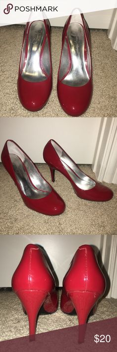 Red patent style heels by Jessica Simpson Red patent style heels by Jessica Simpson Jessica Simpson Shoes Heels