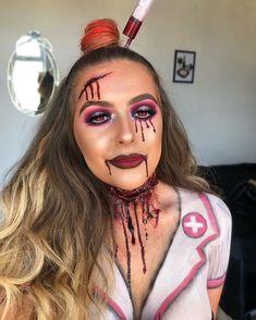 10 Stunning Makeup Ideas for Halloween Amazing Halloween Makeup, Halloween Inspo, Halloween Looks, Halloween Fancy Dress, Halloween Face Makeup, Halloween 2017, Creepy Makeup, Sfx Makeup, Cosplay Makeup