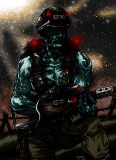 Rogue Trooper by PAULSWAIN.deviantart.com Young Lad, Rogues, Master Chief, Darth Vader, Deviantart, Comics, Fictional Characters, Cartoons, Fantasy Characters