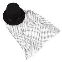 6eb9b8cc888 Amazon.com : TOOGOO(R) Black Mini Top Hat Veil Clips Party Lolita Cosplay  Goth Fancy Dress : Beauty