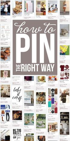 How to pin the right way on #Pinterest!