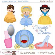 Yo soy una princesa Plantillas PSD por Kristi W. diseños