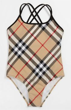 Burberry One Piece Swimsuit (Big Girls) available at #Nordstrom