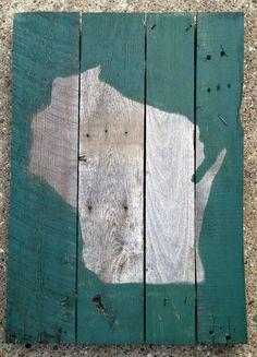 Wisconsin 18x24 Wood Pallette Sign by milwaukeeup