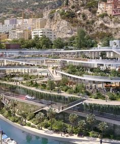 fuksas to overhaul stretch of monaco coastline with tiered mixed-use building Architecture Panel, Green Architecture, Futuristic Architecture, Sustainable Architecture, Sustainable Design, Architecture Details, Landscape Architecture, Landscape Design, Architecture Portfolio