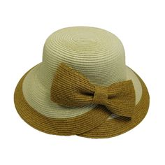 Overlapping Brim and Bow Sun Hat Summer Hats For Women, Cloche Hat, Paper Straws, Sun Hats, Bows, Character, Products, Arches, Sombreros De Playa