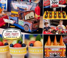disney cars themed birthday party food ideas