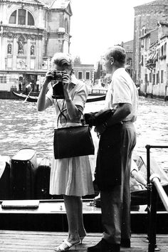 Deborah Kerr and her husband Peter Viertel in Venice, 1961