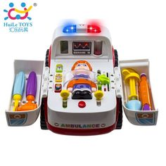 Ambulance Baby Simulation Toy Electrical Vehicle Toy Teaches Early Learning and Stimulation