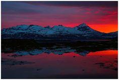 Vanvittige farger på solnedgangene for tiden.