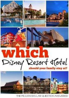 Over a million people stay at Disney Resort Hotels every year? Why? It saves time and money. But picking the right Disney Resort Hotel for your family can be hard...here are the cons and pros of staying at a Disney World Resort Hotel and a guide to help you pick the right one for your family.