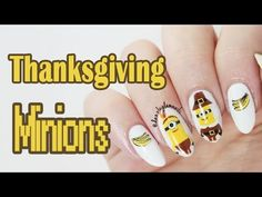 Dazzle Glam Nails | Nail Art Blog: Thanksgiving Minions Nails