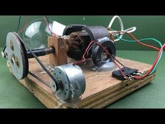 How to make electricity a free energy generator dc motor at home - Experiment new idea project Motor Generator, Creative Inventions, Diy Gifts For Men, How To Make Light, Alternative Energy, Projects For Kids, Fun Activities, Generators, Experiment