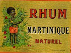 Vieilles étiquettes de rhum martiniquais
