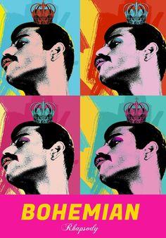 Freddie Mercury Bohemian Rhapsody Canvas Wall Art Print Queen Band Artwork by thefanarthub on Etsy Roy Lichtenstein, Arte Pop, Andy Warhol, Artwork Prints, Canvas Art Prints, Cyberpunk, Pop Art Posters, Movie Posters, Vintage Posters