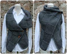 Knitting PATTERN-Big square wrap sleeveless by laurimukspatterns