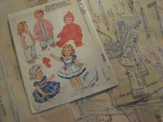 "ORIGINAL Doll Clothes PATTERN 2412 Tiny Tears Dydee Betsy Wetsy size 11"" to 12"" #McCalls"