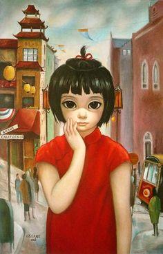 Маргарет Кин (англ. Margaret Keane, р. 1927) - современная американская художница. Биография, картины: http://contemporary-artists.ru/Margaret_Keane.html
