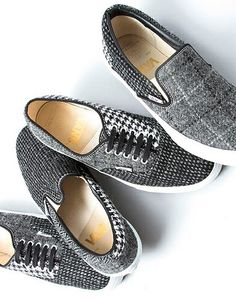 Fun way to get in on the herringbone and tweed trend this fall!