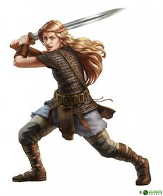 A shieldmaiden. This is a gorgeous depiction of a female warrior, enough proof that realistic, empowered female warriors are beautiful and cool and way more awesome than the unrealistic, objectified ones!!