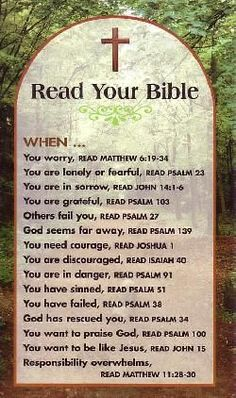 Read your Bible: