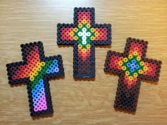 Hama bead crosses for Easter Messy Church design church crosses Perler Bead Designs, Perler Bead Templates, Hama Beads Design, Diy Perler Beads, Perler Bead Art, Pearler Beads, Christmas Perler Beads, Melty Bead Patterns, Pearler Bead Patterns