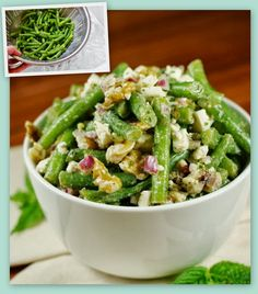 Green Bean Feta Salad - At first the ingredients don't seem like thy would work.. but it comes out AMAZING!