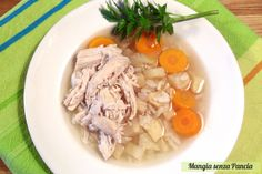 Minestra pollo e riso, ricetta leggera
