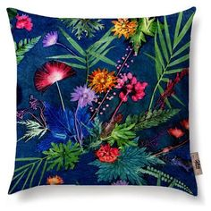 Indigo Tropical Cushion