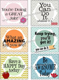 It's Written on the Wall: Freebie Lunchbox Notes for Kids-Send a Love Note in their Lunchbox Everyday