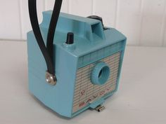 1960s AQUA Turquoise Imperial Savoy Box Camera, Collectible - Vintage Travel Trailer and Home Decor. $98.00, via Etsy.