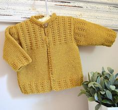 Jacket with optional hood - Knitting pattern by OGE Knitwear Designs Christmas Knitting Patterns, Baby Knitting Patterns, Baby Patterns, Arm Knitting, Knitting For Kids, Knitted Baby Cardigan, Dress Gloves, Yarn Brands, Jacket Pattern