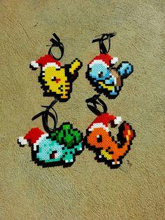 Pokemon Christmas Ornaments Charmander Pikachu by BurritoPrincess, $4.00