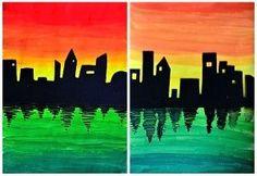 Skyline on color gradations | Arte a Scuola | Bloglovin'
