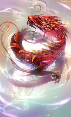 Dragon Deviant Art is the Bomb! Illusion Kunst, Dragon Rouge, Cool Dragons, Dragons Den, Dragon's Lair, Dragon Artwork, Dragon Pictures, Mythological Creatures, Magical Creatures